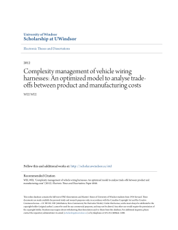 Complexity management of vehicle wiring harnesses: An optimized