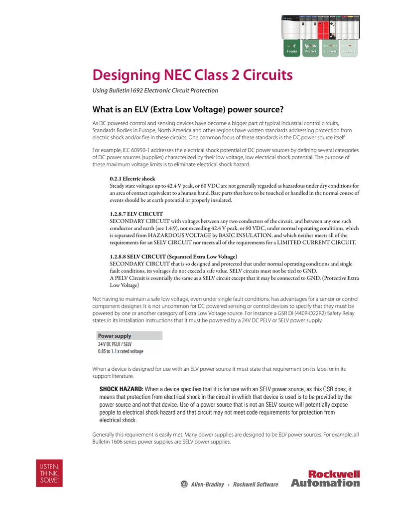 Designing Nec Class 2 Circuits Power And Control Circuit 018215516 1 6d9939a5af23615f0590fe4c83ff30a9