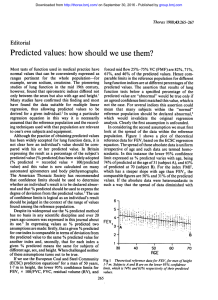 Predicted values: how should we use them?