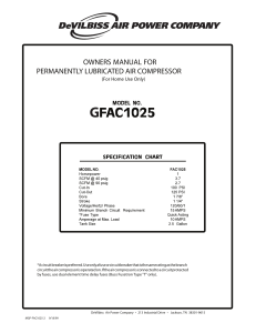 owners manual for permanently lubricated air compressor