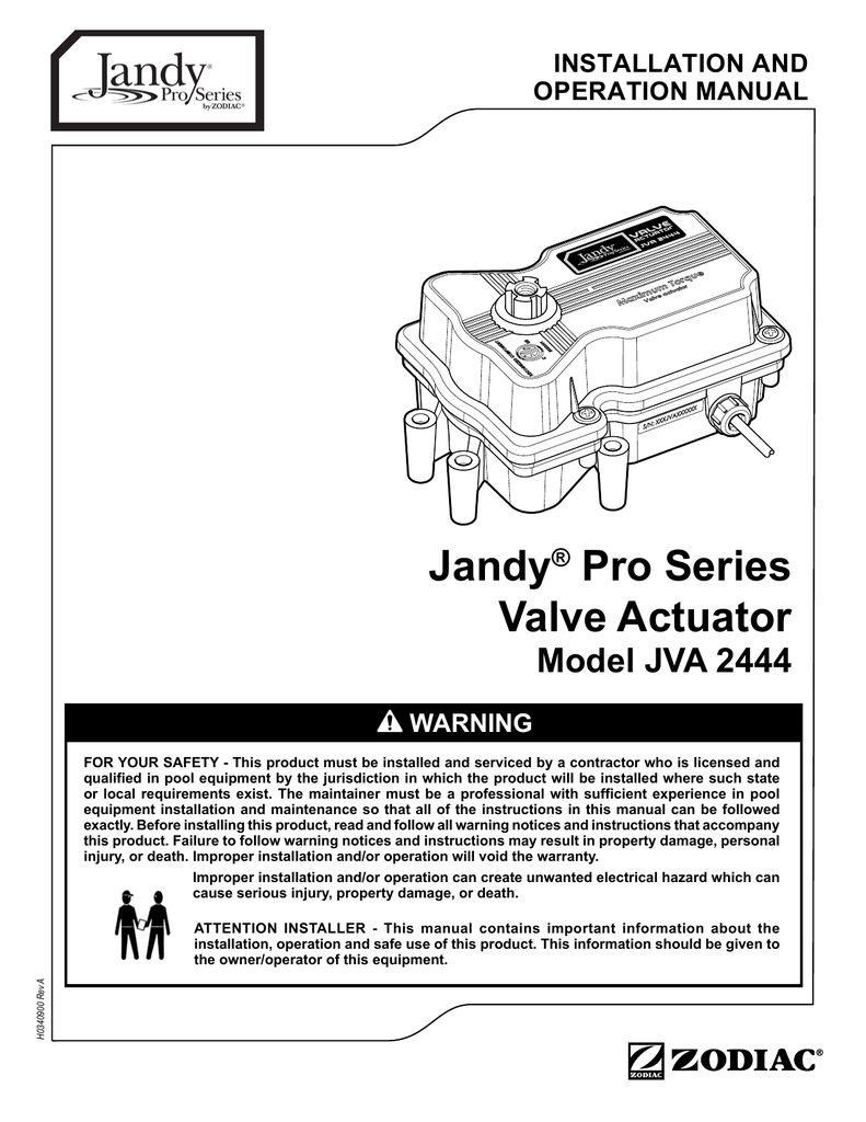 Jandy® Pro Series Valve Actuator on