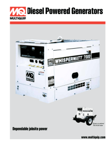 Diesel Powered Generators