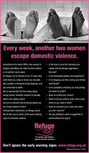 Every week, another two women escape domestic violence.