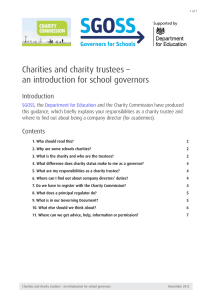 Charities and charity trustees - an introduction for school