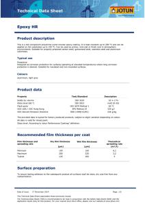Technical Data Sheet Jotamastic 87
