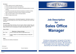 Sales Office Manager