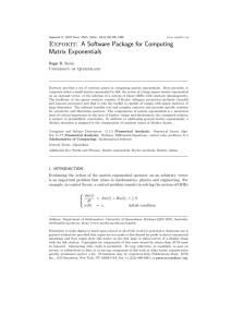 Expokit: A Software Package for Computing Matrix Exponentials