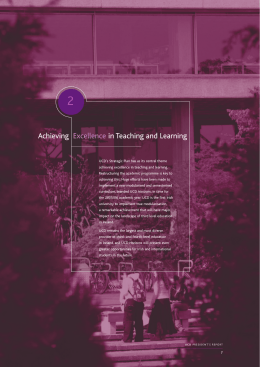 Achieving Excellence in Teaching and Learning (pdf file)