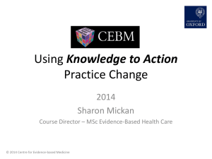 Using knowledge to action practice change