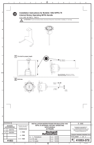 Installation Instructions for Bulletin 140U NFPA 79 Internal Rotary