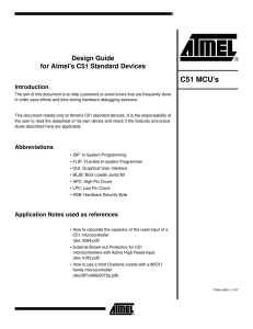 Design Guide for Atmel`s C51 Standard Devices