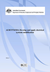 AURT576520A Develop and apply electrical systems modification