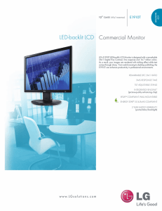 Commercial Monitor LED-backlit LCD
