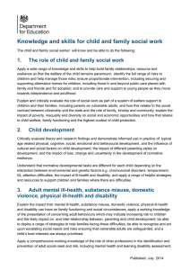 Knowledge and skills for child and family social work