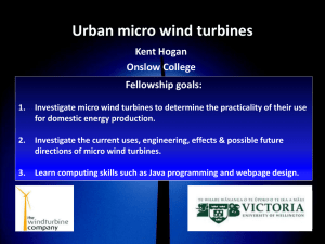 Micro-wind - Victoria University of Wellington