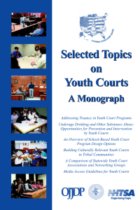 Selected Topics on Youth Courts Selected Topics on Youth Courts
