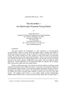 The HoverBot C An Electrically Powered Flying Robot