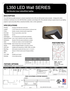 L350 WALL Spec Sheet