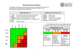 Risk Assessment Guidance Notes