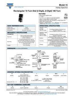 Model 15 Rectangular 10 Turn Dial (3 Digit)