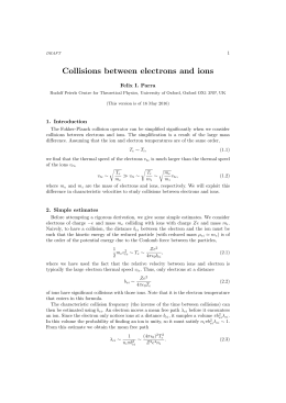 Collisions between electrons and ions