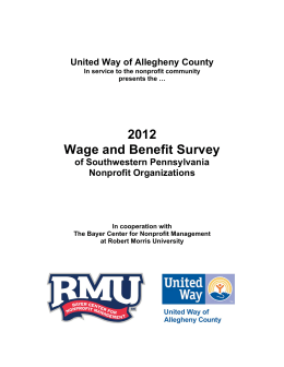 2012 Wage and Benefit Survey - Bayer Center