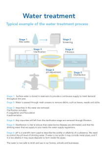 to see a typical example of the water treatment