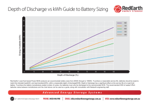 Depth of Discharge vs kWh Guide to Battery Sizing