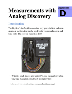 Measurements with Analog Discovery