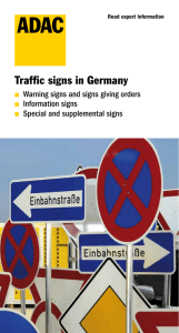Traffic signs in Germany