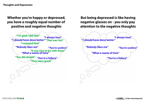 Whether you`re happy or depressed, you have a roughly equal