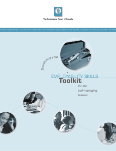 Employability Skills Toolkit: For the Self