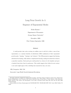Long-Term Growth As A Sequence of Exponential