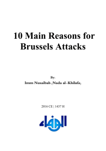 10 Main Reasons for Brussels Attacks