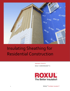 Insulating Sheathing for Residential Construction