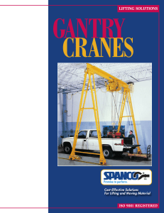 SPANCO Gantry Cranes Brochure - Cisco
