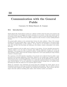 Communication with the General Public