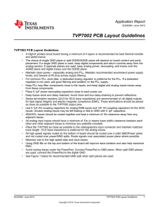 TVP7002 PCB Layout Guidelines