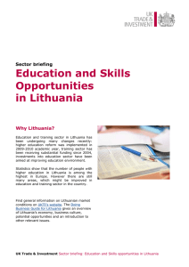 Education and Skills Opportunities in Lithuania