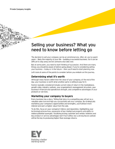 Selling your business? The decision to sell your company can