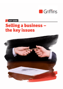 Selling a business – the key issues