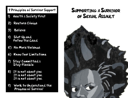 Supporting a Survivor of Sexual Assault