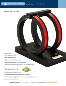 Helmholtz Coils - Lake Shore Cryotronics, Inc.