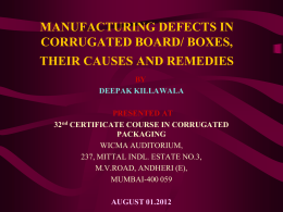manufacturing defects in corrugated board/ boxes, their