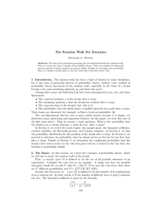 The Random Walk For Dummies