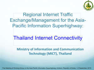 Thailand Internet Connectivity