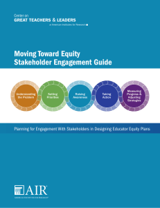 Use the Moving Toward Equity Stakeholder Engagement Guide