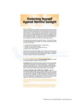 Protecting Yourself Against Harmful Sunlight - Cal
