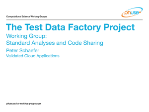 The Test Data Factory Project