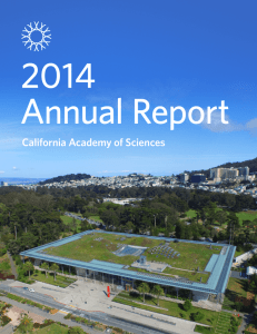 Annual Report - California Academy of Sciences